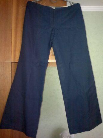 Брюки штаны темно синие шерстяные широкие прямые СССР.Винтаж.Раритет