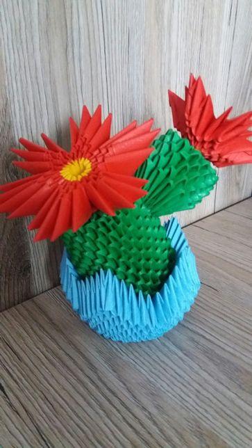 Kaktus origami modułowe