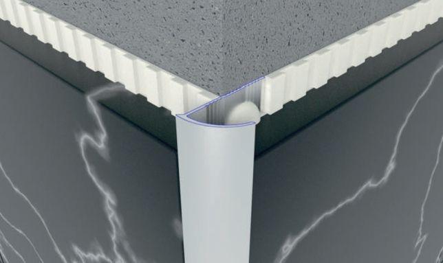 Профиль наружный полукруглый алюмин анодированный для плитки 10, 12мм