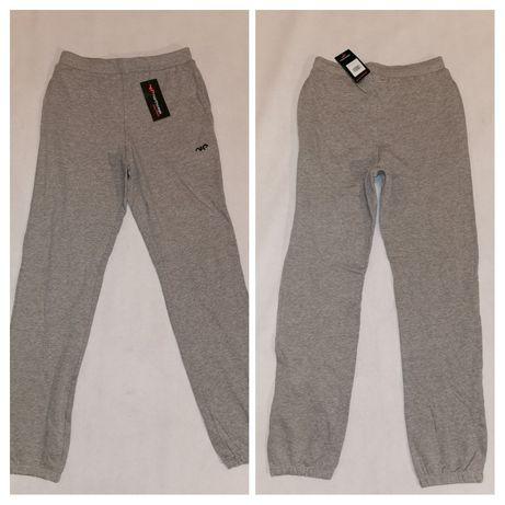 NOWE NORTHPEAK spodnie dresy,roz.M/L,bawełna,siwe,face