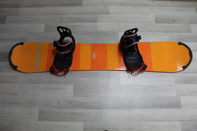 Deska Snowboard NITRO TEAM 155 cm + Wiązania SALOMON