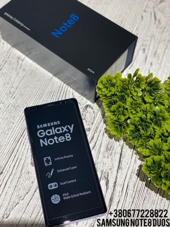 New Samsung Galaxy Note8 Duos Gold,Black Новий Оригінал Гарантія 12м