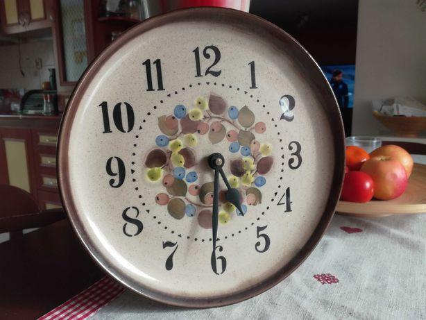 Talerz, fajans, zegar, bardzo ładny