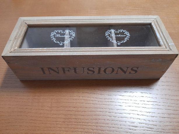 Caixa para guardar infusões/chá
