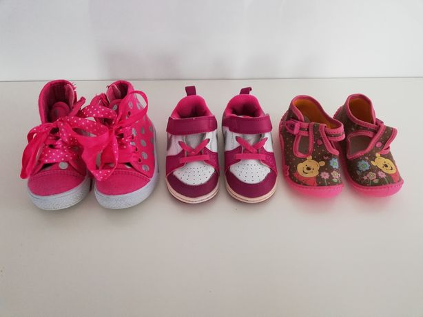 Buty dziecięce rozm. 21 (3 pary)