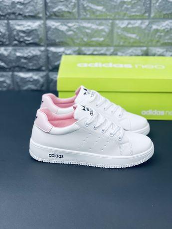 Кожаные кроссовки Adidas Neo шкіряні модні кросівки Адідас Нео Адидас