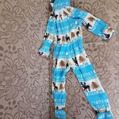 Новый комбинезон флисовый I love Mum Скандинавия для мальчика, девочки