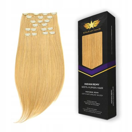 CLIP IN 100%naturalne włosy 140g 54cm Najgęstsze doczepiane indyjskie