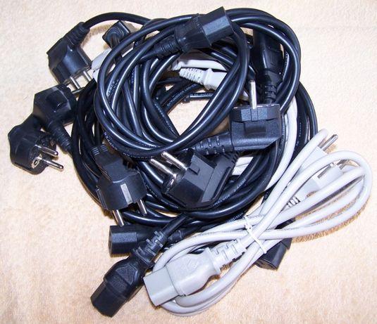 10szt kable zasilające do komutera i innych urządzeń