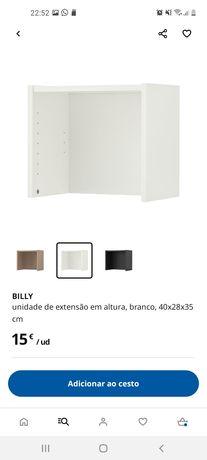 Unidade de Extensão em altura - estante Billy 40x28x35