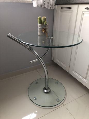 Stolik szklany kawowy na alkohol Ikea okrągly