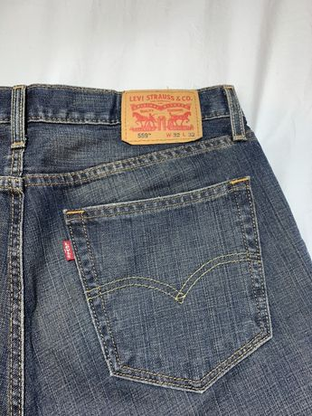 spodnie jeansy levis 559 vintage szerokie nogawki