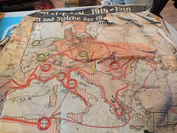 niemiecka mapa wojenna z 1 wojny światowej