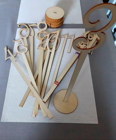 Numery na stoły weselne od 1 do 20. Ślub / wesele / dekoracje