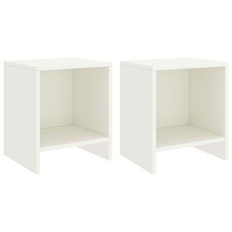 vidaXL Mesas de cabeceira 2 pcs 35x30x40cm madeira pinho maciça branco 322240