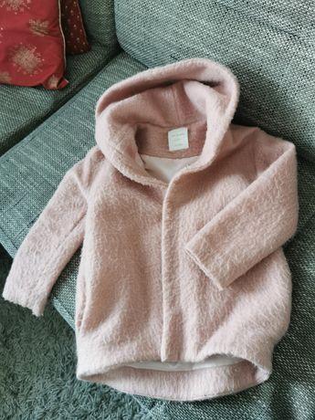 Płaszcz płaszczyk Zara różowy rozmiar 128cm stan idealny