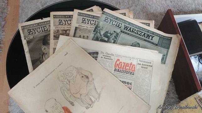 Stare gazety Życie Warszawy