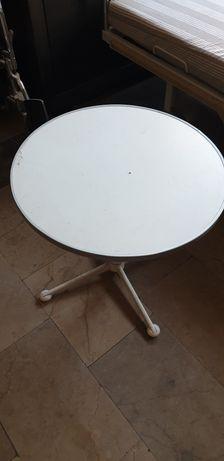 REZERWACJA Biały okrągły stolik