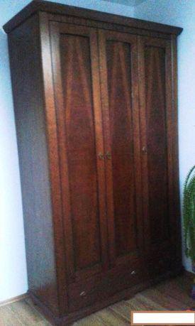 Szafa drewniana trójdrzwiowa - jesion - stan idealny