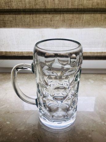 Kufel szklany litrowy