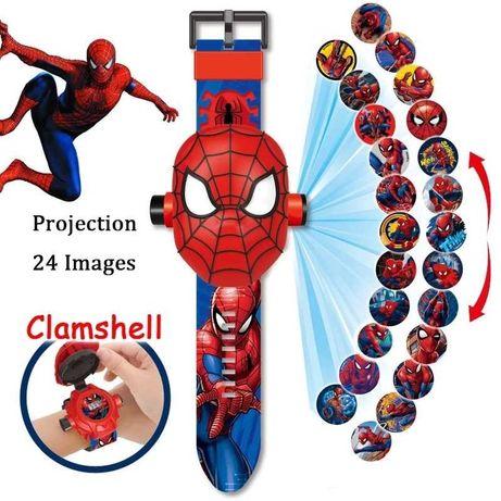 Zegarek Spiderman i projektor na ścianę 2 w 1