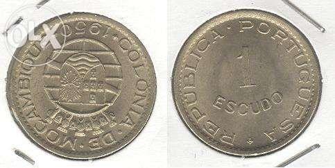 Moeda 1$00/1950 - Moçambique