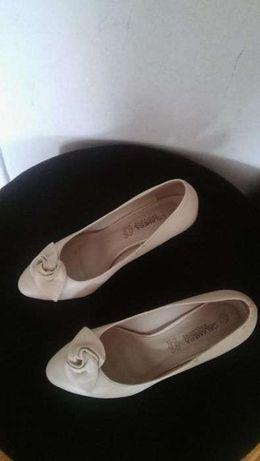 Buty ślub wesele rozmiar 37 kolor śmietanka beż