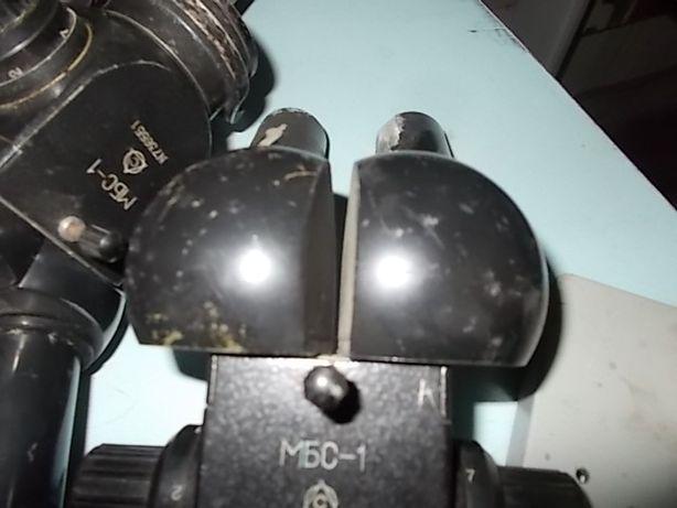 Мікроскоп МБС-1 шкільний лабораторний бімокулярний
