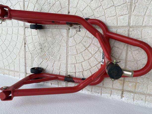 Cavalete para mota com rodas