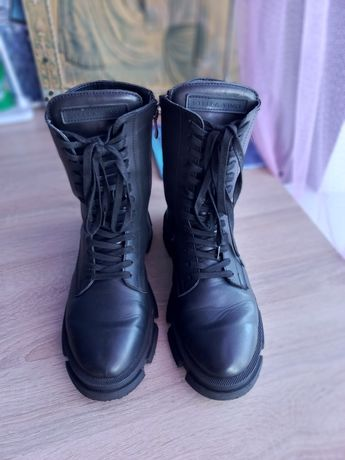 Кожаные ботинки,берцы