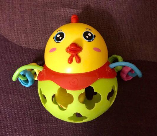 Погремушка-шар Курочка с яйцом для малышей