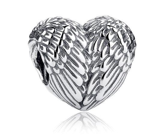 CHARMS do bransoletki Pandora BEADS Skrzydlate serce S925