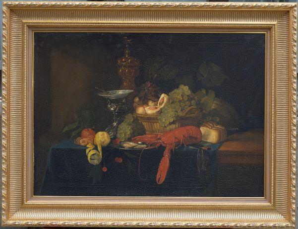 "Pieter DE RING (1615-1660) ""Голландский натюрморт"" омар"