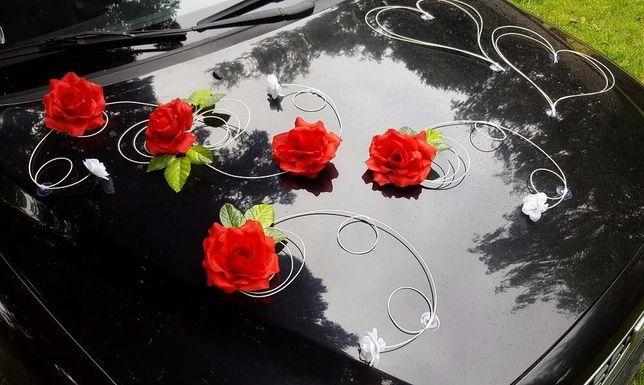 DEKORACJA SAMOCHODU ślubnego Wesele Serca , róże