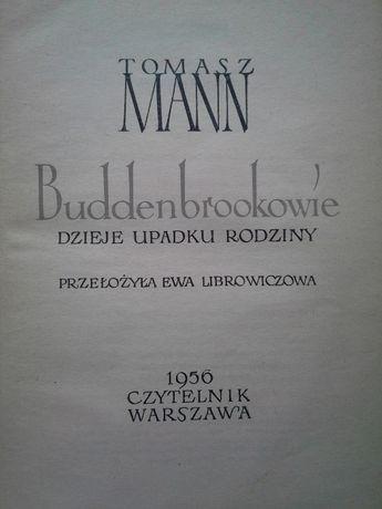 Buddenbrookowie dzieje upadku rodziny, Tomasz Mann, wyd.I, 1956r.