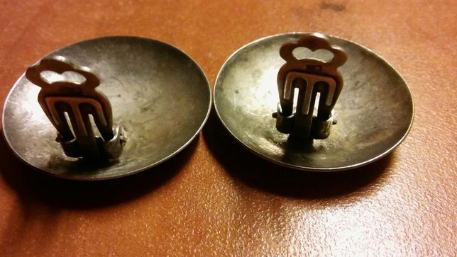 Przedwojenne klipsy srebro 800 unikat