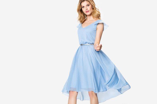 Zwiewna sukienka w groszki Makalu 40
