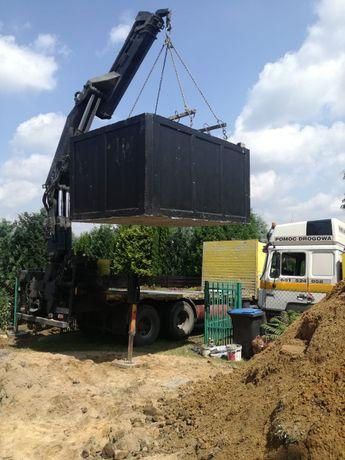 Szamba Szambo betonowe oczyszczalnia Transport Montaż Koparka dojazd