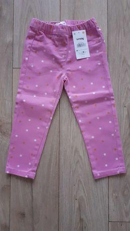 Spodnie treginsy jeansy dżinsy różowe 92 H&M Sinsay