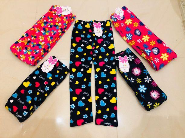 Лосины-штанишки детские велюр на флисе для девочек