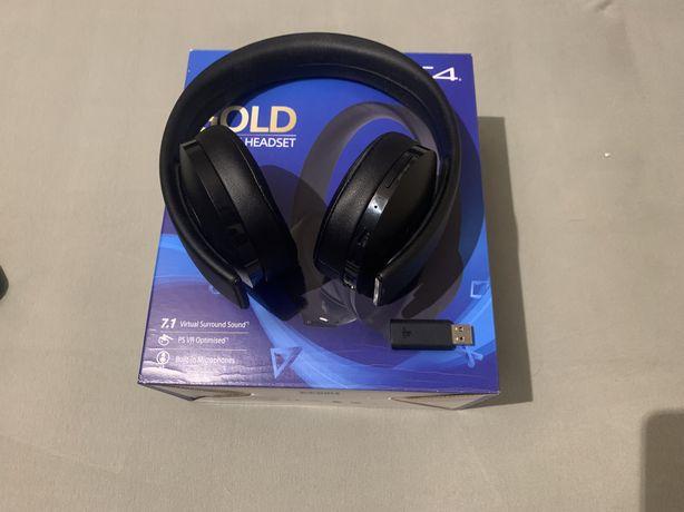 Słuchawki ps4 sony bezprzewodowe gold wireless headset