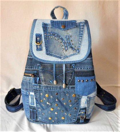 Женский джинсовый рюкзак