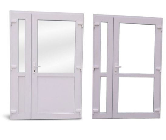 Drzwi PCV dwuskrzydłowe 125x210 białe TRANSPORT CAŁA POLSKA od ręki