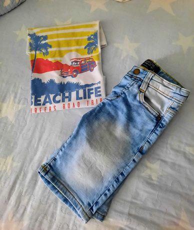 Conjunto de verão para menino: calções Mayoral e t-shirt - 5 anos