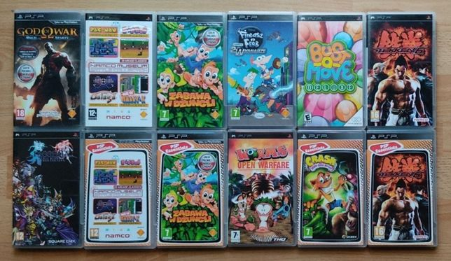 PlayStation Portable! Fineasz Ferb, Crash, Tekken 6, Worms itd! PSP