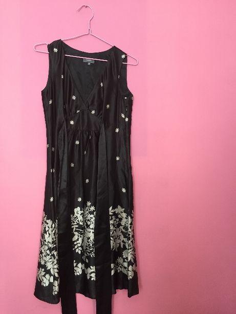 100% jedwab letnia sukienka w kwiaty wiązana w pasie