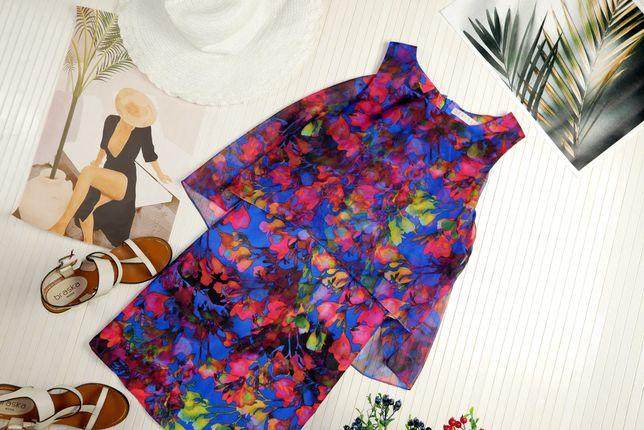 Платье летнее  яркое синее розовое с цветочным рисунком h&m asos