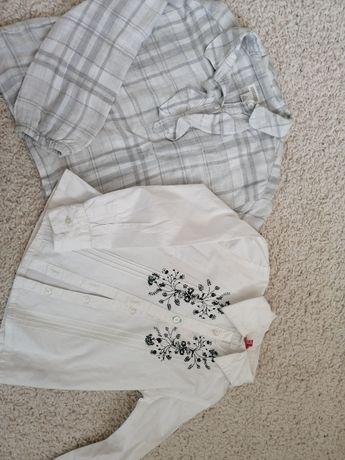 Dwie eleganckie blueczki 116, koszule.