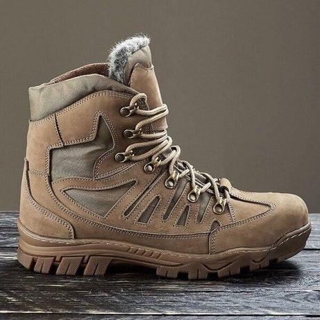 Зимние Кожаные Ботинки Варвар Тактические Кроссовки Тактичні Черевики