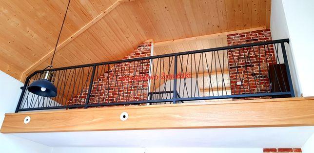 Loft balustrada wewnętrzna nowoczesna loftowa